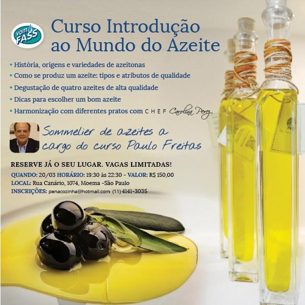 """""""Curso Introdução ao Mundo do Azeite"""" – dia 20/03/2014 em São Paulo"""