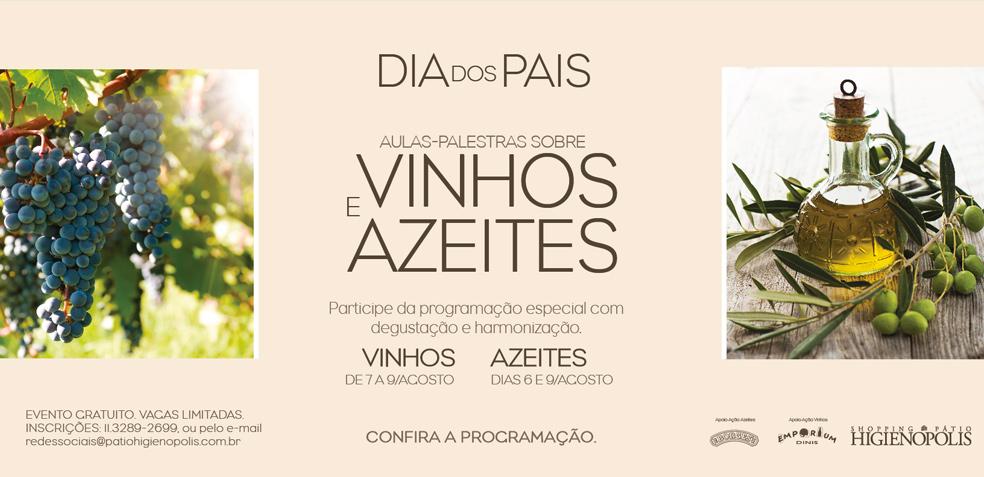 Palestra e degustação de azeites na semana do Dia dos Pais em São Paulo.