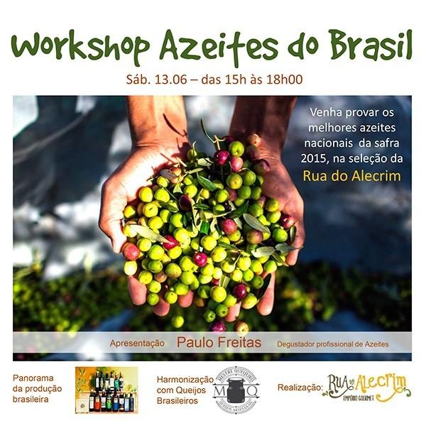 WORKSHOP AZEITES DO BRASIL – Em São Paulo, dia 13/06/2015