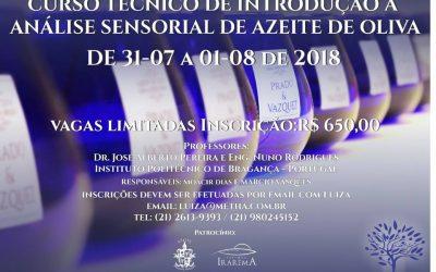 CURSO TÉCNICO DE INTRODUÇÃO À ANÁLISE SENSORIAL DE AZEITE DE OLIVA – 2018